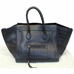 CELINE Medium Phantom Luggage Leather Tote Bag